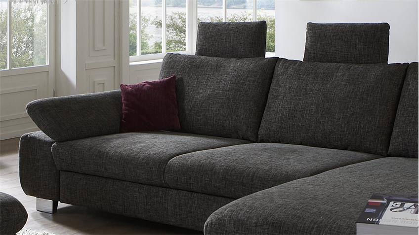 ecksofa bliss in stoff braun grau mit. Black Bedroom Furniture Sets. Home Design Ideas
