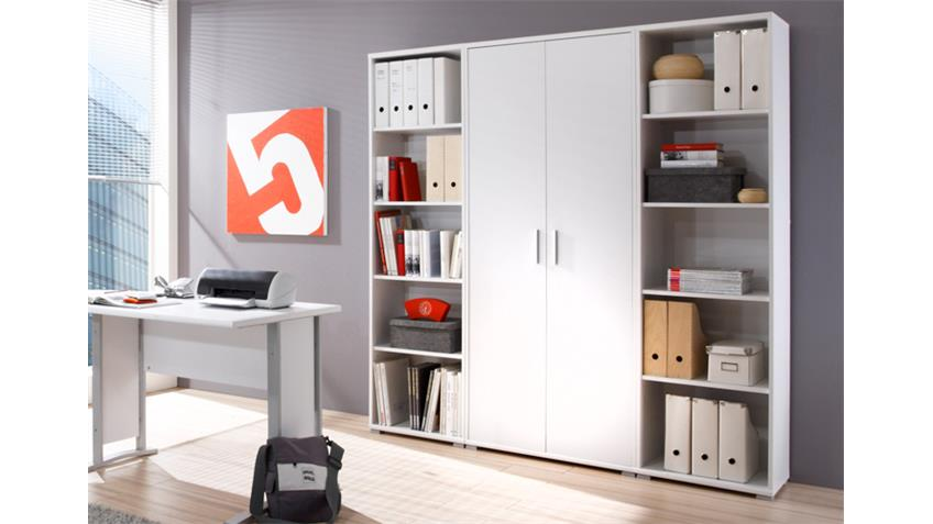 Regalwand OFFICE LINE BIZ Regal Schrank Büro in weiß Dekor