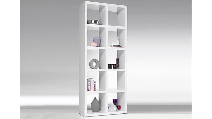 regal tonic b cherregal wei hochglanz lackiert 10 f cher. Black Bedroom Furniture Sets. Home Design Ideas