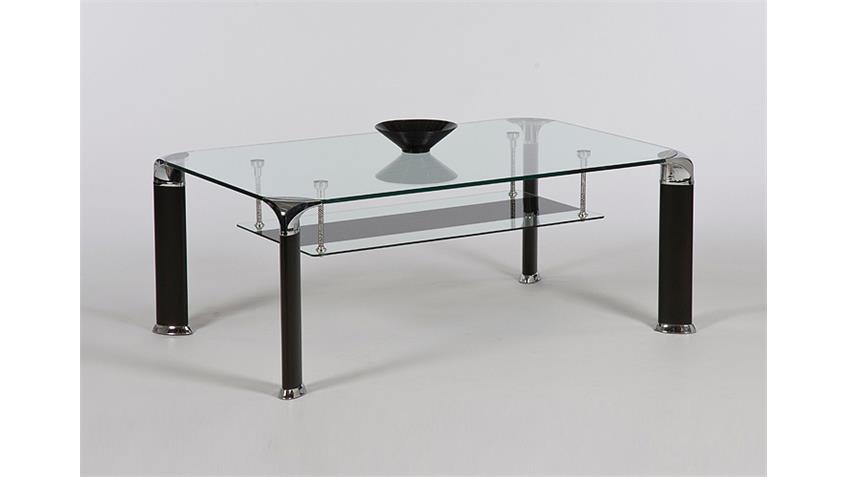 couchtisch vidal tisch mit klarglasplatte in schwarz 109 cm. Black Bedroom Furniture Sets. Home Design Ideas