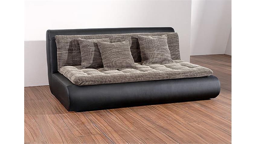 Sofa IV CLUB in schwarz Element links inklusive drei Kissen