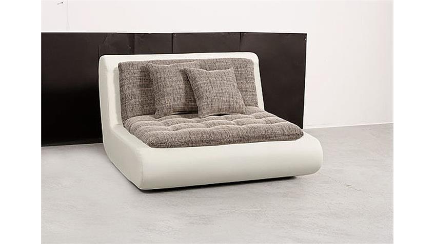 Sessel VII CLUB Einzelsessel Polstermöbel in weiß mit Kissen