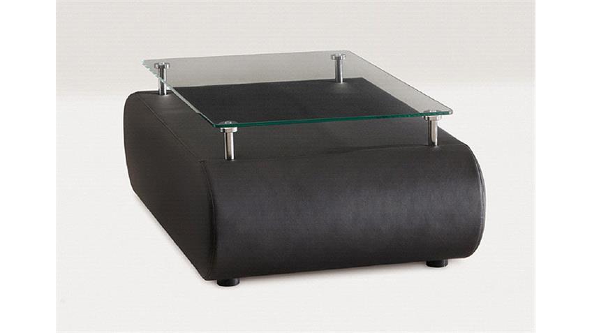 Couchtisch II CLUB in Tisch schwarz mit Glasplatte