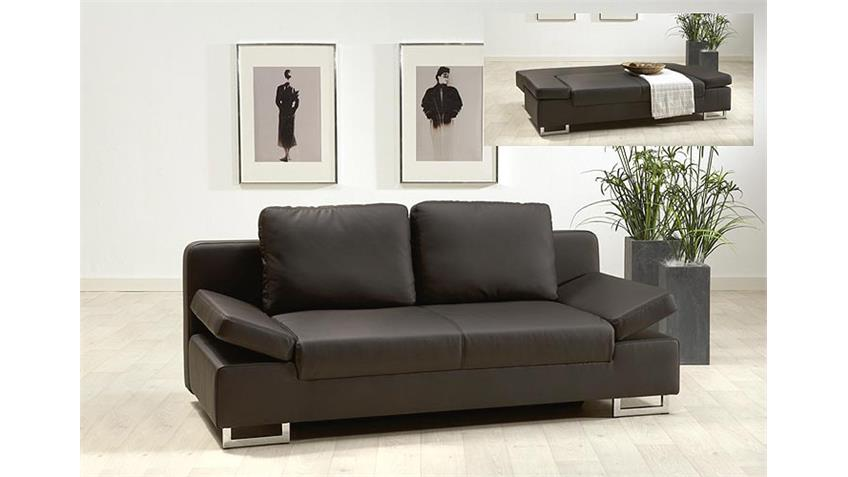 schlafsofa robby braun sofa bettfunktion inkl zwei kissen. Black Bedroom Furniture Sets. Home Design Ideas