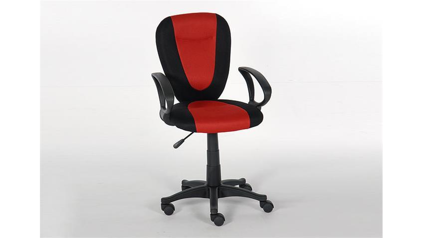 Schreibtischstuhl BUSY Stuhl Bürostuhl in schwarz und rot