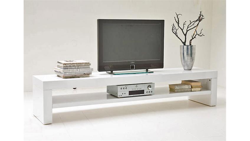 TV Board GIRO Lowboard in weiß hochglanz Lack Breite 160 cm