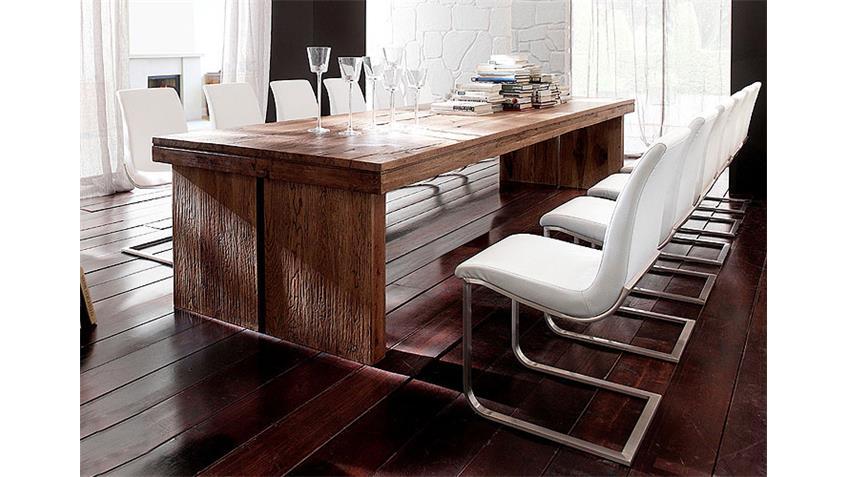 Esstisch DUBLIN Tisch in Eiche massiv verwittert 220x100 cm