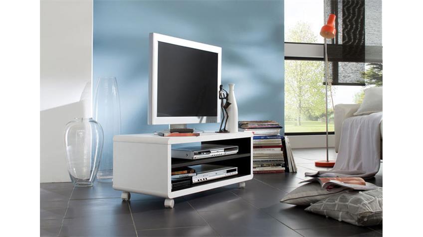 TV Board JEFF Lowboard TV Unterschrank in weiß 79 cm