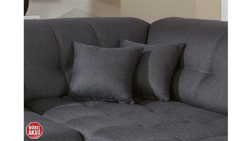 LIKE Zierkissen Grau Stoff/Grau