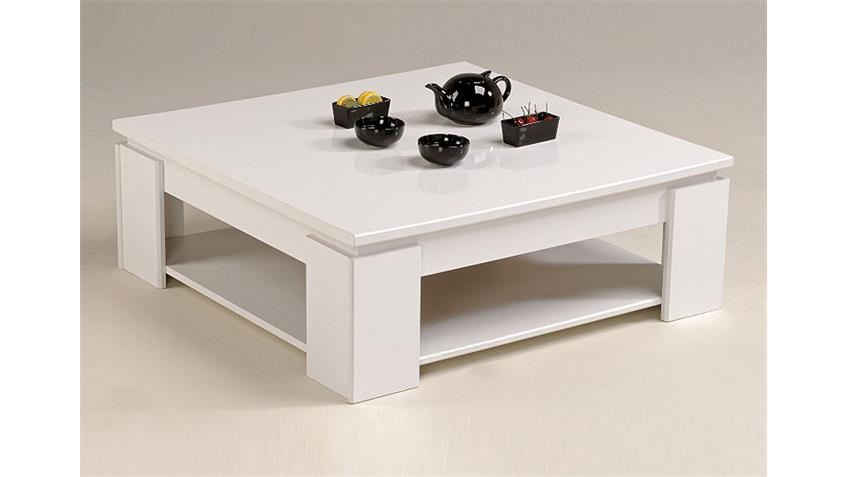 Couchtisch VERA I Tisch Oberplatte in weiß hochglanz Dekor