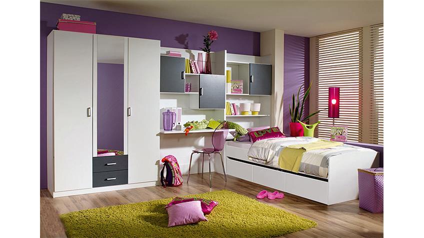 Kinderzimmer II SLOW in Alpinweiß und Grau Metallic