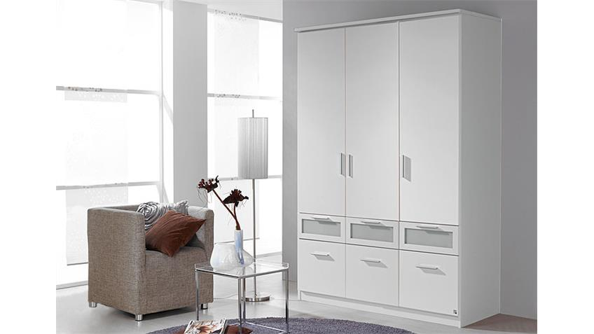 kleiderschrank ii bochum schrank wei und milchglas 136 cm. Black Bedroom Furniture Sets. Home Design Ideas