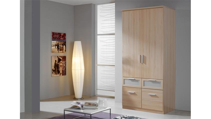 Kleiderschrank BOCHUM V Schrank Buche und Milchglas 91 cm