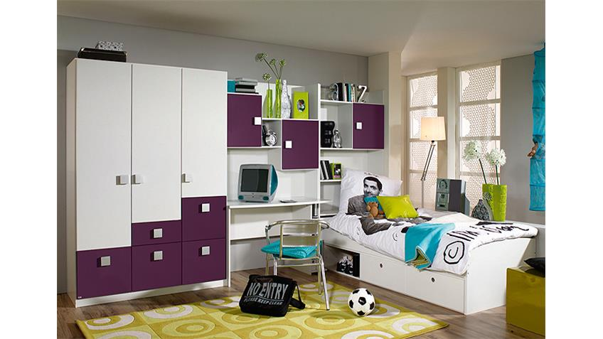 jugendzimmer skate vi kinderzimmer in wei und lila. Black Bedroom Furniture Sets. Home Design Ideas