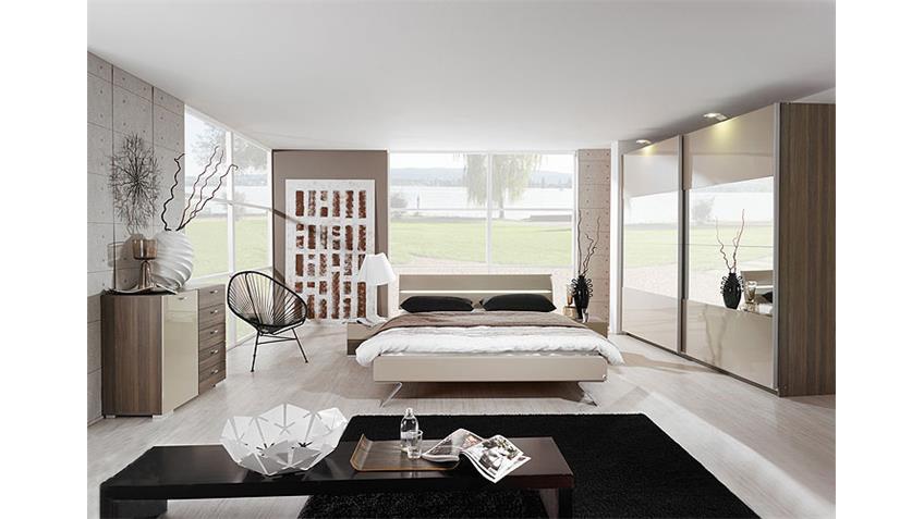 Bett AVELA Doppelbett in Weiß inkl. Beleuchtung 180x200