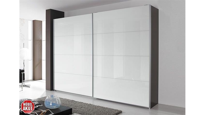 Schwebetürenschrank QUADRA Buche natur Weißglas 271