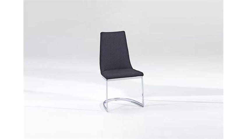 Stuhl RAVERO 4er Set Schwingstuhl Freischwinger in schwarz
