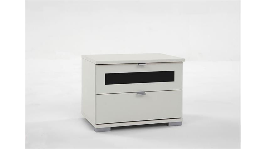 Nachtschrank BOMBO Nachtkonsole weiß und schwarz 52x40x38
