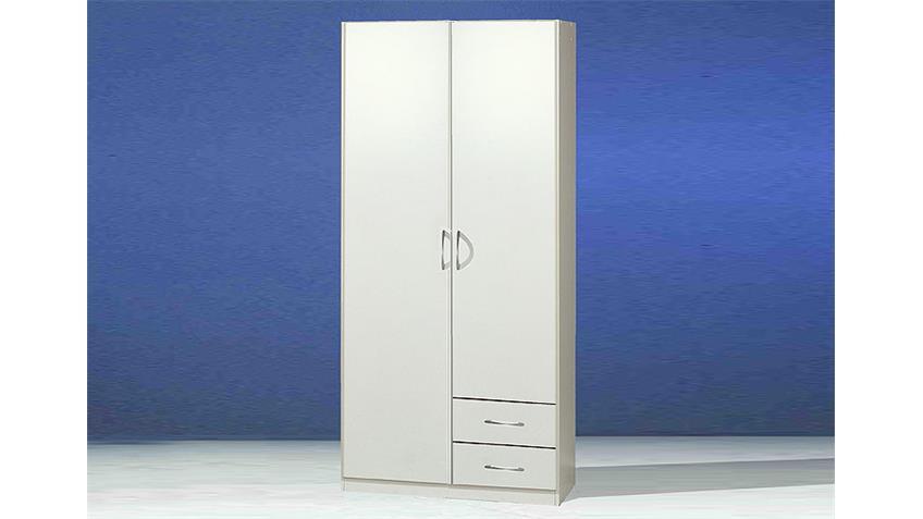 SIDNEY Kleiderschrank Weiß 90/197 cm III Weiß