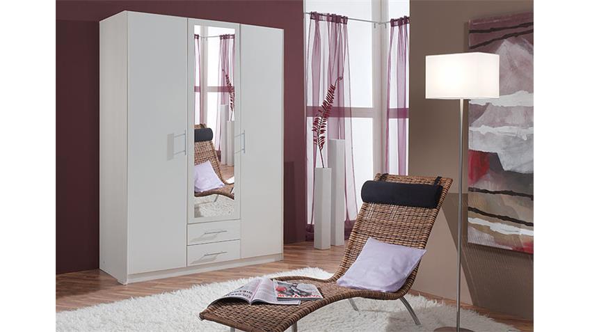 Kleiderschrank CLIP IV Schrank in weiß 3 türig Breite 135