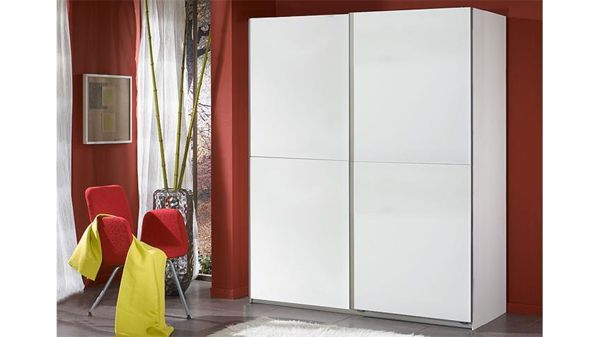 Schwebetürenschrank HOT Schrank in weiß Breite 135 cm