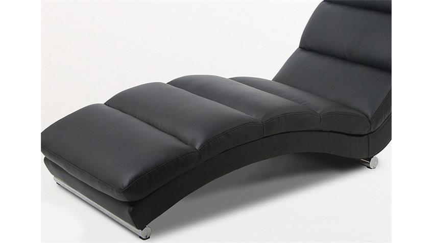 Relaxliege FOX Chaiselongue Liege in schwarz und Chrom