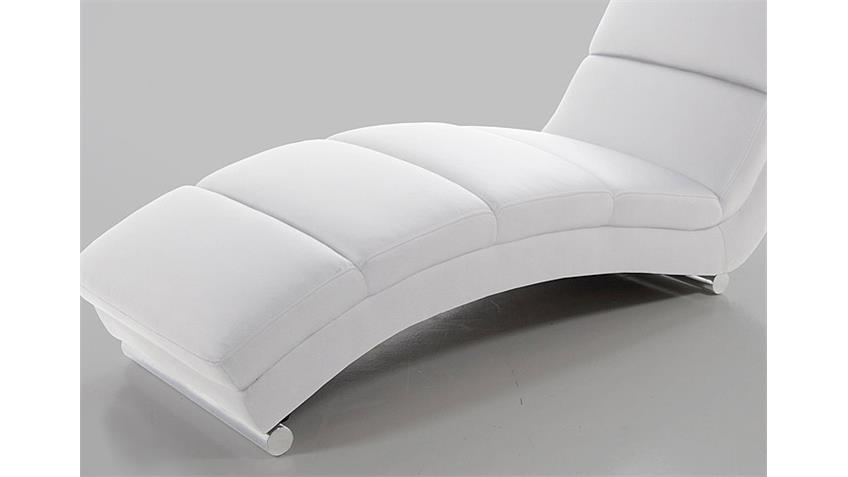 Relaxliege FOX Liege Chaiselonge in weiß und Chrom