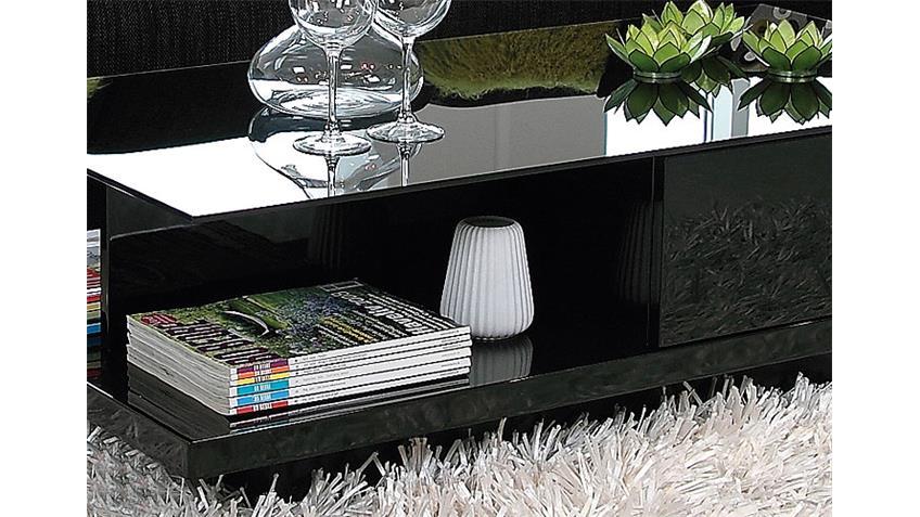 Couchtisch JEFF Tisch in schwarz hochglanz Breite 120 cm