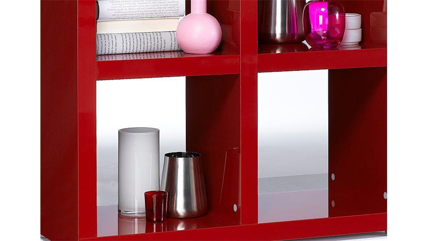 regal tonic bücherregal in rot hochglanz lackiert 4 fächer ~ Bücherregal Rot