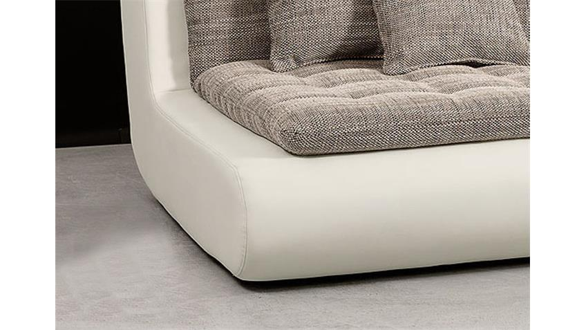 Sessel I CLUB Anschlusselement links in weiß inkl. 2 Kissen