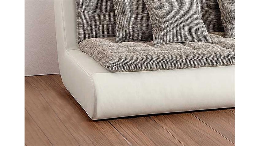 Sofa CLUB III Element Links in weiß inkl. 3 Kuschelkissen