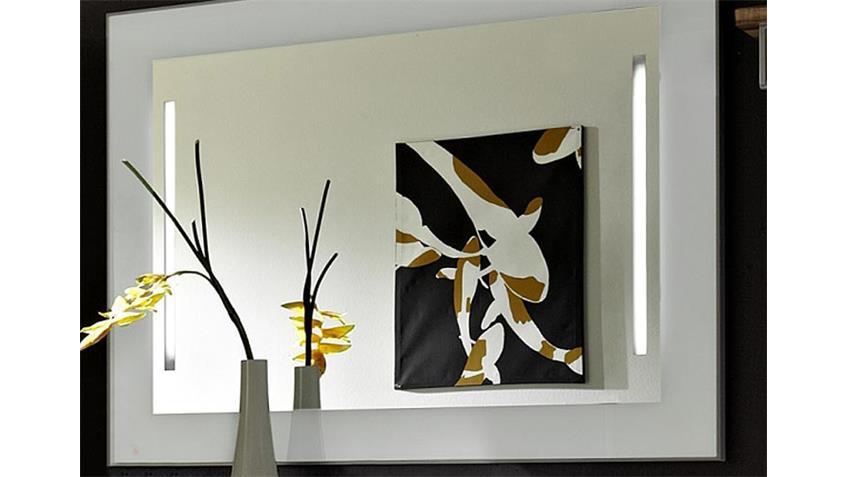 Spiegel CARGON in Glas weiß inklusive 2er Beleuchtung