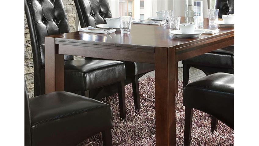 Esstisch LILO Küchentisch in massiv dunkel 160x75x90 cm