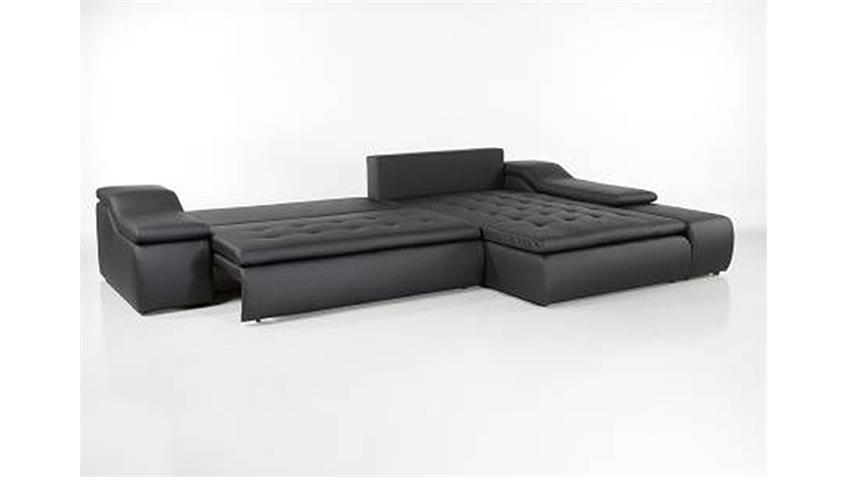 Ecksofa SHADY Wohnlandschaft Sofa schwarz mit Bettfunktion