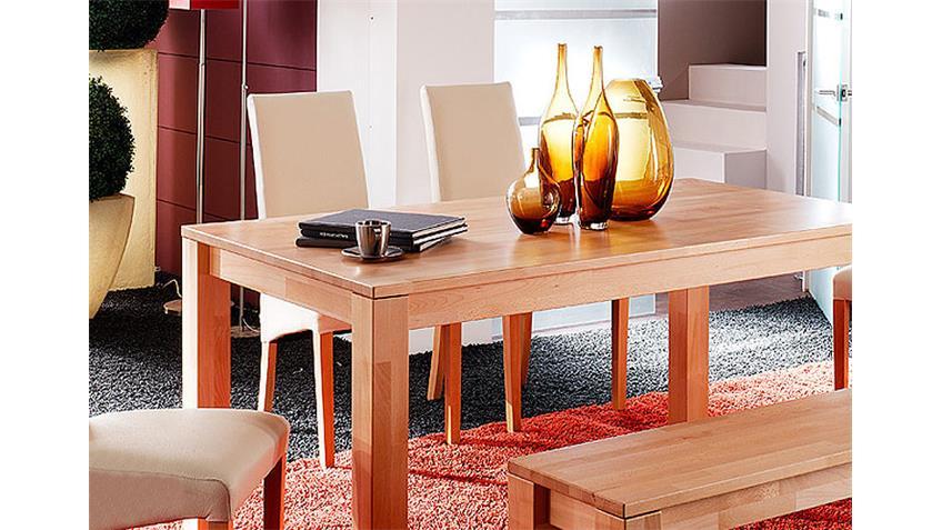 Esstisch PERSI Tisch in Kernbuche massiv Breite 140 cm