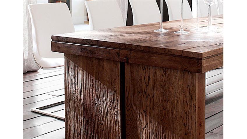 Esstisch DUBLIN Tisch in Eiche massiv verwittert 260x100 cm