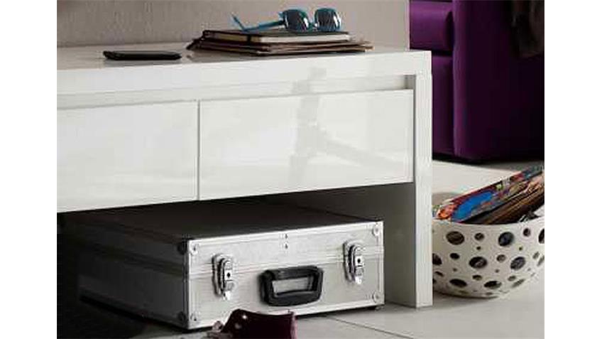bank sydney ablage garderobe wei hochglanz mit stauraum. Black Bedroom Furniture Sets. Home Design Ideas