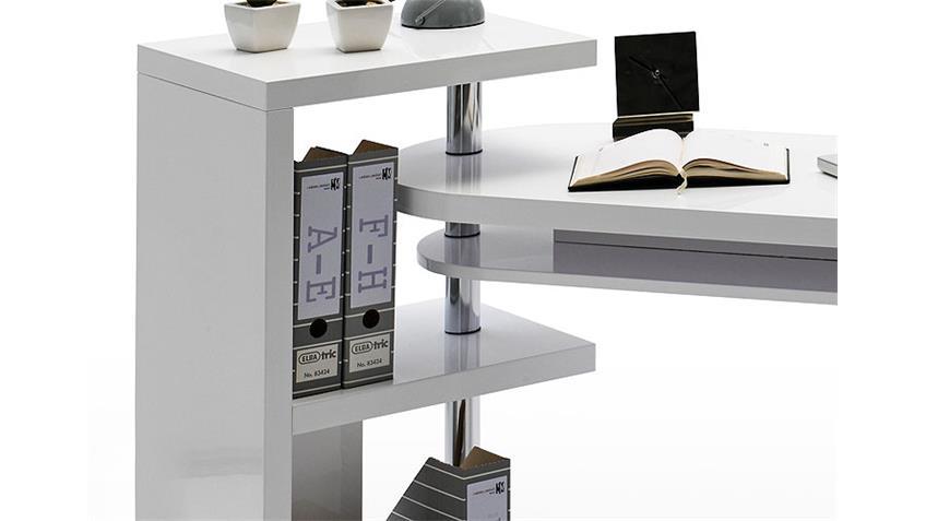Schreibtisch MATT Bürotisch Tisch weiß hochglanz lackiert