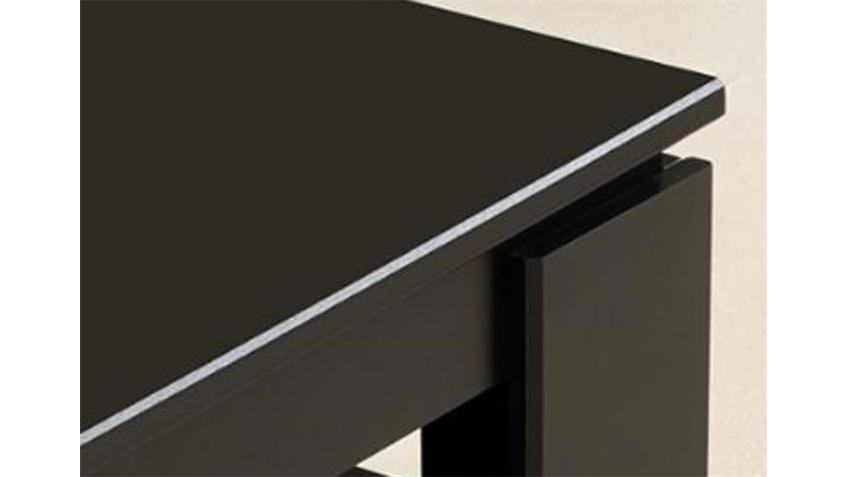 Couchtisch VERA II Tisch Oberplatte in schwarz hochglanz