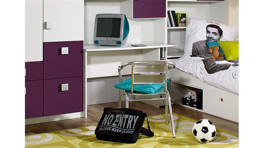 Jugendzimmer SKATE VI Kinderzimmer in lila und alpinweiß