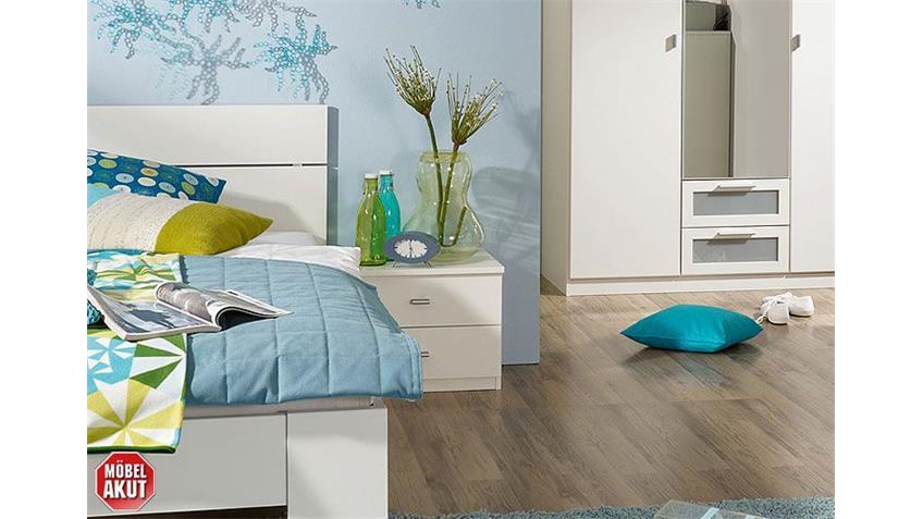 Jugendzimmer-Set CHICA Schlafzimmer in Alpinweiß 3-teilig