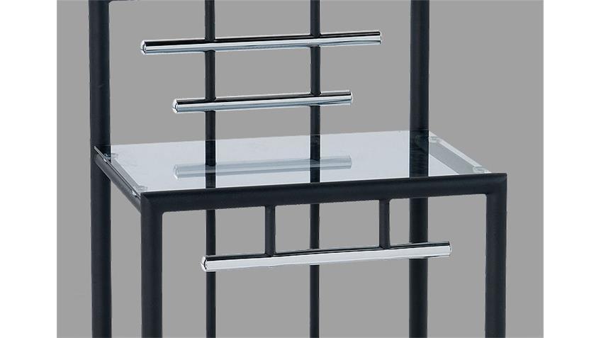 Nachtkonsole SAMI Nachttisch in schwarz mit 2 Ablagen