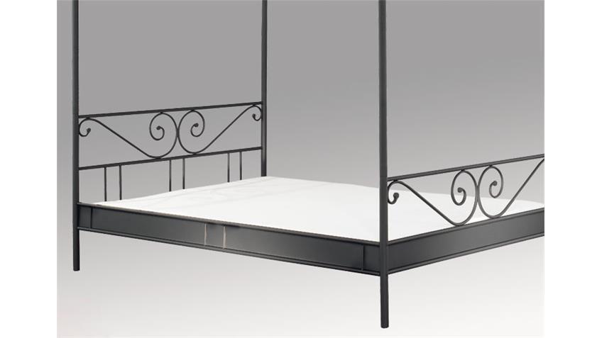 Himmelbett CARDO II Bett in schwarz Liegefläche 180x200 cm