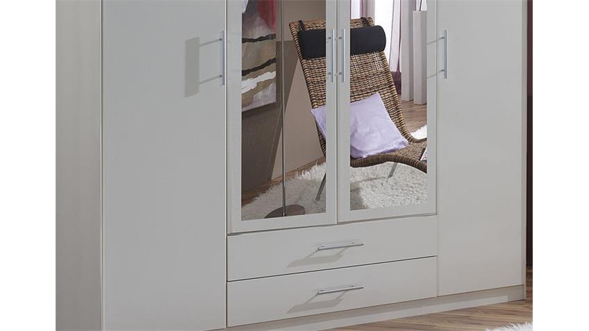 Kleiderschrank III CLIP Schrank weiß Breite 180 cm 4-türig