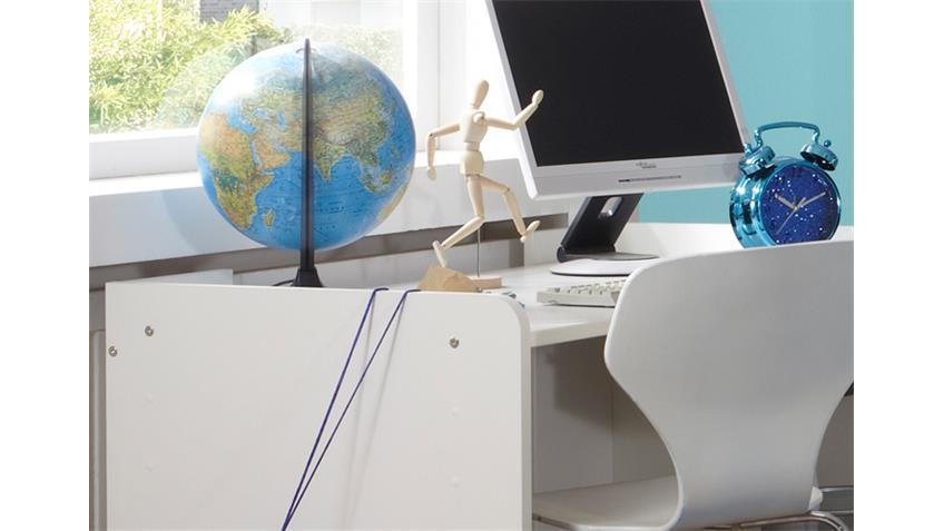 Schreibtisch ROCKO Computertisch in weiß und anthrazit