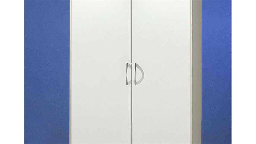 SIDNEY Kleiderschrank Weiß 90/198 cm I Weiß