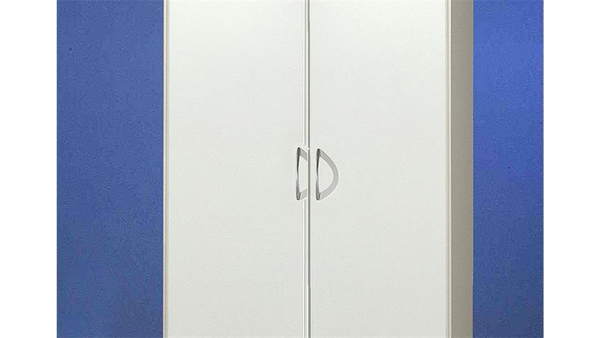 Kleiderschrank SIDNEY 2-türiger Schrank in Weiß 90/197 cm