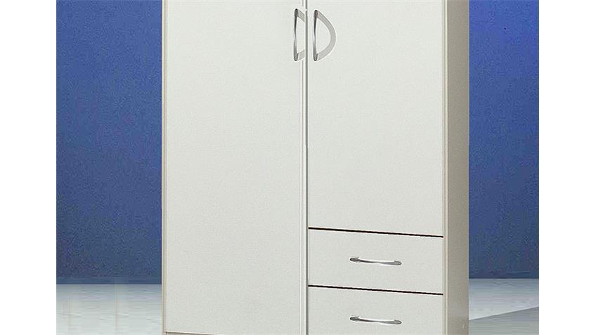 SIDNEY Kleiderschrank Weiß 90/197 cm II Weiß