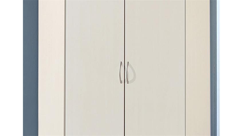 Eckschrank SIDNEY Schrank in weiß zweitürig 120x120 cm