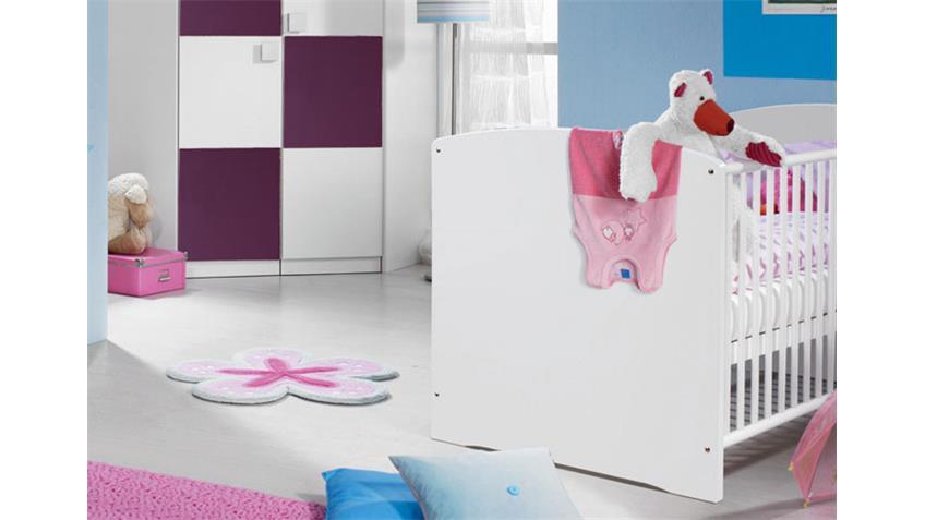 Babyzimmer SKATE Kinderzimmer mit Eckschrank in Weiß Lila